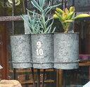 アンティーク風 ティントリプルポット azi-azi アジアジ 壁掛けプランター ガーデン 雑貨 ハンギング ポット ガーデニング雑貨