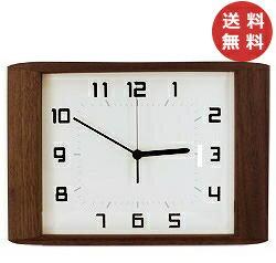 レトロクロック La Luz Inc ラルース Retro Clock (壁掛け時計 ウォールナット 木製 ウッド シンプル 壁かけ ラルース 静か 寝室 ウォールクロック リビング時計 日本製 レトロ時計 スイープムーブメント) 【送料無料】【あす楽対応】