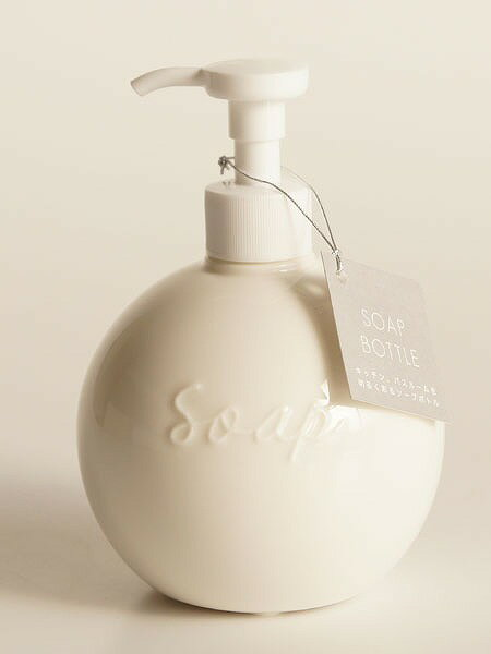 【Orb】ソープボトル ディスペンサー オーブ ラウンド 丸 陶器 日本製 ソープディスペンサー ロロ LOLO【あす楽対応】