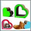 送料無料エイトラボCuoreクオーレピンクブルーグリーン猫用品お手入れ爪とぎ爪みがきおもちゃダンボールトンネル