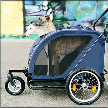 送料無料ペットカート エアバギーフォードッグ キューブ ネスト Air Buggy for Dog ペットバギー 三輪 折りたたみ 多頭用 小型犬 中型犬 大型犬
