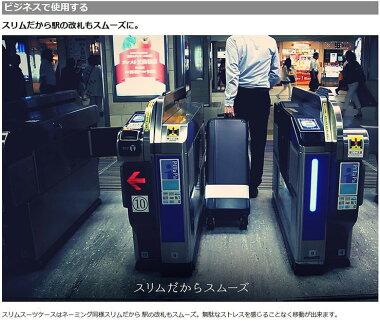【送料無料】スリムスーツケースBIBILABSLM-04BKスーツケース黒ブラック旅行トラベルバックスリム【き】