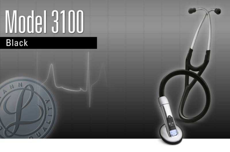 リットマン エレクトロニック ステソスコープ 3100BK27 ブラック 3M スリーエムヘルスケア【正規品】【電子聴診器】:MeReCare-y(メリケア)