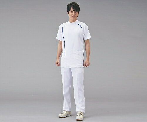 メンズジャケット半袖 M ホワイトxネイビー C...の商品画像