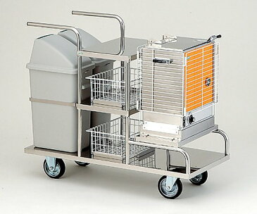 清拭オムツ交換車 (おしぼり60本収納) SOK-1 1台 【大型商品】【同梱不可】【代引不可】【キャンセル・返品不可】