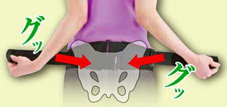 腰部骨盤ベルト(補助ベルト付) M-Lサイズ 75cm〜95cm(骨盤周囲) C3JKB41109 ミズ...