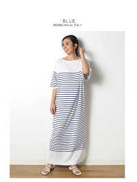 半袖リネンブレンドマキシシャツ