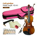 【送料無料】ぴんくケース【調整後出荷】大人サイズ バイオリン VS-F1CP 7点セット