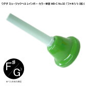 ウチダ・ミュージックベル 単音【カラー:高F#/Gb】ハンドベル・レインボー・カラー MB-C NO.32 高い「ふぁ#/そb」