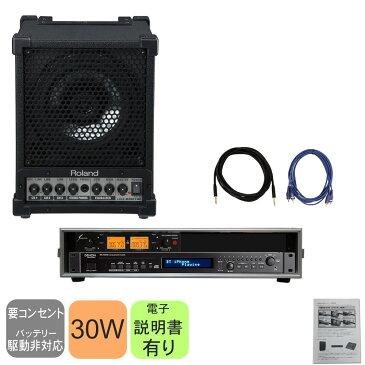 【送料無料】Bluetoothオーディオ・CDプレイヤー+ワイヤレスマイク用受信機付き 簡易PAセット Roland CM-30【ラッキーシール対応】