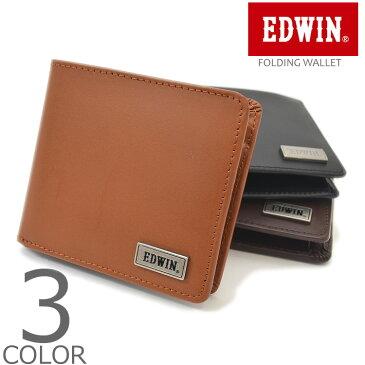 【全3色】 EDWIN エドウィン ウォレット 二つ折り 財布 メンズ レディース