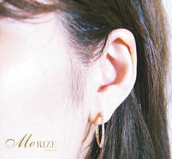 """K18YG天然ダイヤ0.30ct[25mm]フープピアス""""計44石のダイヤモンドを贅沢に使用。シンプルなかつゴージャスな輝きが、あなたの女性らしさをさらに昇華。普段使いからパーティーシーンまで幅広く対応。"""