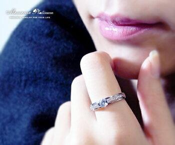 """Pt.900天然ダイヤ0.32ct.リング""""たっぷりとプラチナ、ダイヤモンドを。惜しみ無く使った高級素材。何にも変え難い一生モノのまばゆい輝きのリング。どんなシーンでも活躍。"""