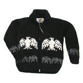 ★今売れてます!★■送料無料■■【ブラックカウチンセーター/メンズ&レディース】世界有数カウチンメーカー[KANATA]が紡ぐ伝統の一着。手編みでしっかり編みこんだ、カナダ製オリジナル[イーグル柄(鷲柄)]10P03Dec16