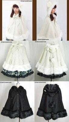 くまみみリボンマント(ラメファンシー)(11043007)★メタモルフォーゼ☆ロリータファッション♪