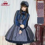 Royalstripeスカート(13084001)☆メタモルフォーゼ-metamorphose-ロリータロリィタ