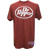 Dr.Pepper ドクター・ペッパー米国公式メンズTシャツ (ブラウン) ドクターペッパー (50% Cotton 50% Polyester)