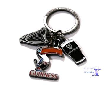 ギネスビール米国公式製品 Guinness マルチ・チャーム・キーホルダーキーチェーン キーリング