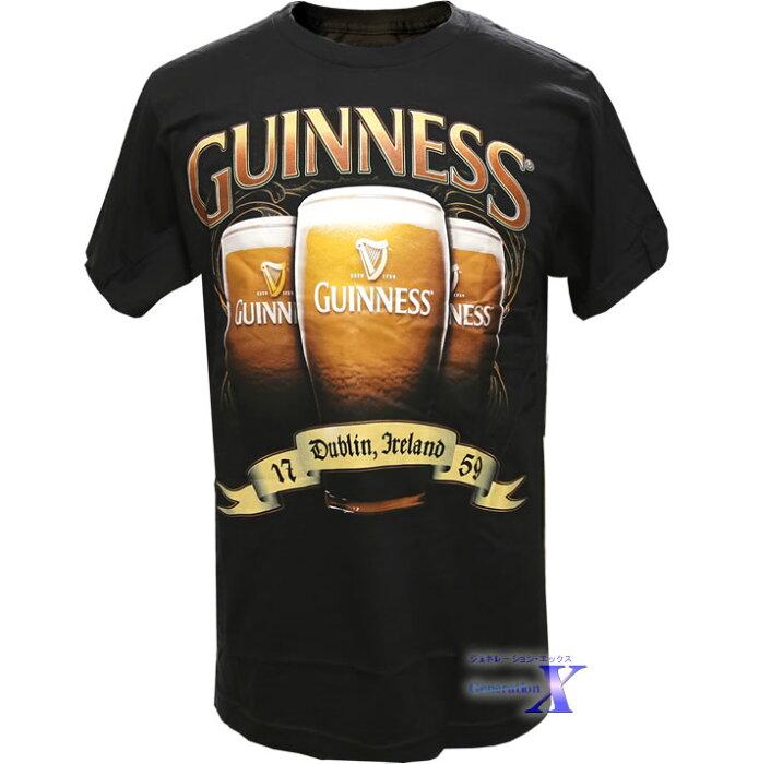 【ギネスビール・オフィシャルTシャツ】メンズ・スリーグラス