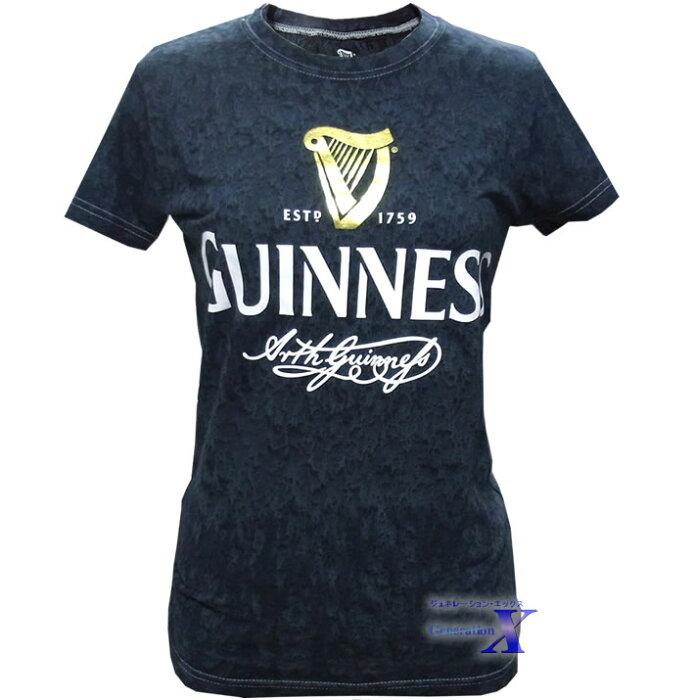 ギネスビール公式レディースTシャツ(ブラック・ダイ)