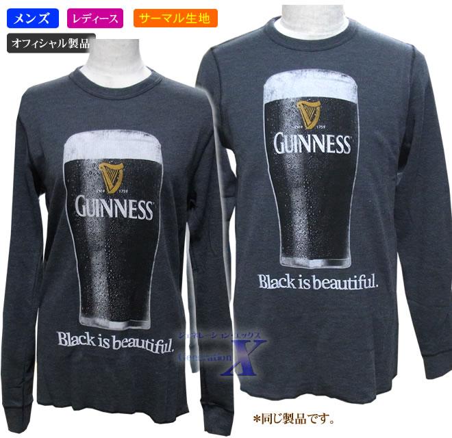 【ギネスビール・オフィシャル】メンズ・サーマル長袖Tシャツ