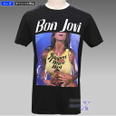 【ボン・ジョヴィ公式製品】スリッパリー・ウェン・ウェット・メンズTシャツ(ブラック)