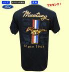 【FORDフォード・オフィシャルTシャツ】マスタング・メンズTシャツ(ゴールド)