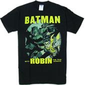 バットマンとロビン!【DCコミックオフィシャル】バットマン&ロビン・メンズTシャツ