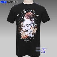 【マリリン・モンロー米国ライセンスTシャツ】メンズ(ローズ)