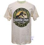 ジュラシックパーク米国公式 メンズTシャツ(クリーム)