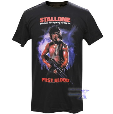 映画『ランボー』米国公式 メンズTシャツ(ファーストブラッド) シルベスター・スタローン