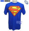 【DCコミックオフィシャル】スーパーマン・メンズTシャツ/オリジナルブルー(100%コットン)