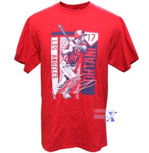 大谷翔平 米国公式製品 メンズTシャツ(ビッグスウィング/サイン入り) エンジェルズ Shohei Ohtani エンゼルズ 大リーグ