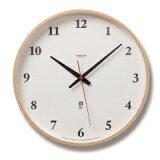 Lemnos(レムノス)Plywood clock 電波時計 ナチュラル LC05-01W NT シンプル 掛け時計 インテリア 置き時計 おしゃれ 時計 祝い ギフト プレゼント ラッピング 壁掛け クロック デザイン時計 国産【ポイント10倍】