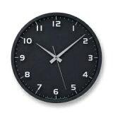 【ポイント10倍】Lemnos(レムノス)nine clock 電波時計 ブラック LC08-14W BK シンプル 掛け時計 インテリア 置き時計 おしゃれ 時計 祝い ギフト プレゼント ラッピング 壁掛け クロック デザイン時計 国産