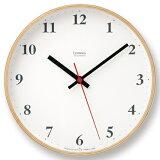 【ポイント10倍】Lemnos(レムノス)Plywood clock 電波時計 ナチュラル LC10-21W NT