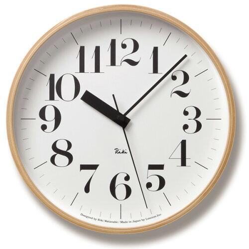 Lemnos(レムノス)Riki Clock RC 電波時計 WR07-11 シンプル 掛け時計 インテリ...