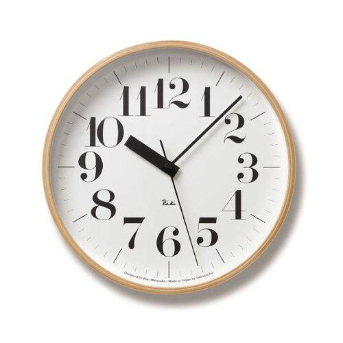 Lemnos(レムノス)Riki Clock RC L 電波時計 WR08-27 シンプル 掛け時計 インテ...