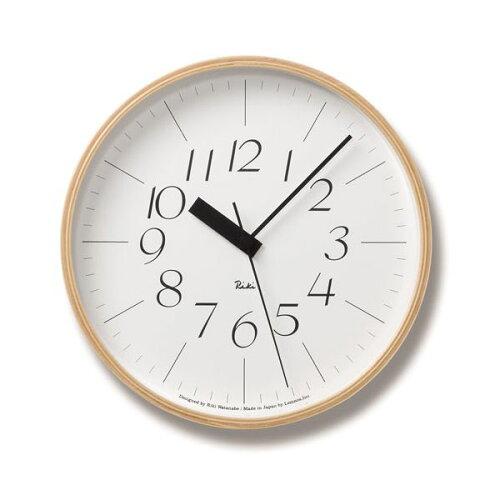 Lemnos(レムノス)Riki Clock RC L 電波時計 WR08-26 シンプル 掛け時計 インテ...