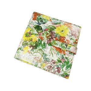 [新] Glenroyal x Liberty笔记本封面Quo Vadis封面Rhodia外壳花卉图案绿色白色黄色真皮皮革