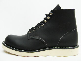 RED WING Red Wing 8165 CLASSIC WORK classic work ROUND-TOE rounds, to black chrome Black Chrome