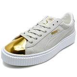 PUMA プーマ SUEDE PLATFORM GOLD スウェード プラットホーム ゴールド gold/star white ゴールド/スターホワイト 362222-01 16FW