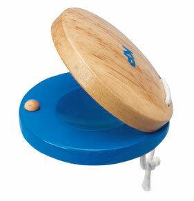 ラウンドカスタネット ブルー【ミュージック・フォ・リビング/ MUSIC FOR LIVING】【キッズパーカッション/Kids percussion/KP】【知育玩具・知育楽器・楽器玩具】