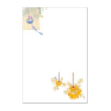 絵葉書 暑中見舞い お祝い 感謝 ポストカード 初夏 和風 涼 風鈴 線香花火 障がい者アート ポイント消化 【39ショップ 送料無料】