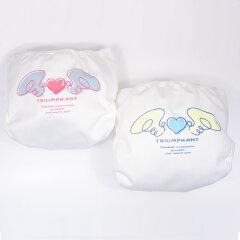 【新生地】天使の羽がかわいいおむつカバー!外ベルトタイプです。合成繊維製で軽い!【楽天最...