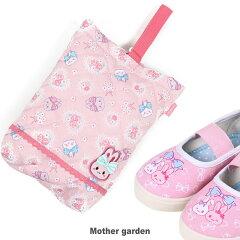 マザーガーデンうさももキルトシューズバッグ《お花レース柄》上履き入れうわばき入れ上靴用バッグ