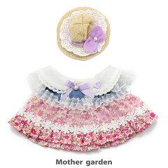マザーガーデンうさももドールプチマスコットSサイズ用着せ替えお洋服《お花畑ワンピース・桃》