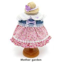 ♪マザーガーデンうさももドール着せ替え用お洋服《お花畑ワンピース・桃》