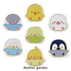 マザーガーデンこぴよフレンズころころピンズコレクション7個セット1週間目印セットかわいいキャラクターピンバッヂバッジキャラクター鳥グッズ