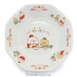 しろたん 中華食器 炒飯皿 《カンフー ハオチー柄》径19cm 単品 日本製 磁器中華食器 八角皿 お皿 シュウマイ皿 食器 あざらし アザラシ かわいい キャラクター マザーガーデン